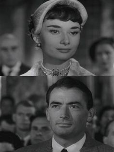 These are shots of the final parting glance between Joe and Princess Ann. Look closely and you can see tears in both of their eyes.<<<<THIS SCENEEE