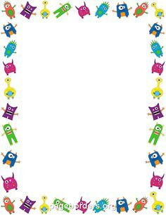 Free monster border templates including printable border paper and clip art versions. File formats include GIF, JPG, PDF, and PNG. Vector images are also available. Monster Book Of Monsters, Little Monsters, Borders For Paper, Borders And Frames, Monster Party, Contour Images, Classe Dojo, Monster Theme Classroom, Printable Border