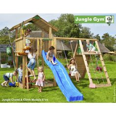Jungle Gym Fun Chalet  (Chalet, climb module and swing seat) 401013+450220