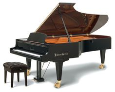 Bösendorfer Concert Grand 290 Imperial, the Imperial has 97 keys a suggestion by composer Ferruccio Busoni.  Its commanding presence in some of the world's great concert halls sets the standard by which other grand pianos are judged