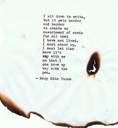 Typewriter poem #94 | Mary Kate Teske
