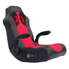 Have to have it. Ace Bayou X-Rocker Vibe Video Game Chair with 2.1 Audio Chair Bluetooth and Arms - Black / Red $129.98