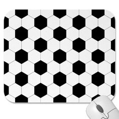 Football Black and White Pattern Mousepad