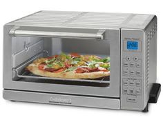 The Cuisinart Deluxe convection toaster oven broiler is designed with 9 functions, including convection for making delicious cakes, potatoes and roasts. Convection fan cooks food faster and more evenly. Toaster Oven Baked Potato, Specialty Appliances, Small Kitchen Appliances, House Appliances, Kitchen Pantry, Eating Raw, Four, Kitchen Dining, Baking