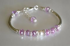 Pink and Pearl Bangle by HeartofGems on Etsy, $16.00