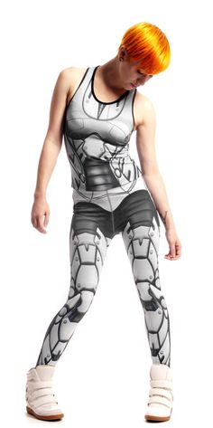 Bionic Leggings Icy Grey, from the Bionic series This sample pair was printed with a new printer; colours differ somewhat compared to earlier stock. Be the snazziest robot-human hybrid with MITMUNK's Bionic leggings. Exposed wire, metal, and plastic ...