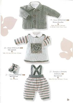 Photo: Knitting For Kids, Baby Knitting, Baby Jumper, Crochet Magazine, Crochet Fashion, Baby Wearing, Clothing Patterns, Baby Dress, Mantel