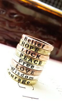 Simple prayer letters ring