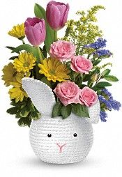 Friday Flowers! Teleflora's Cuddle Bunny Bouquet---->http://www.unionplus.org/gifts-discounts-savings/discount-flowers-online