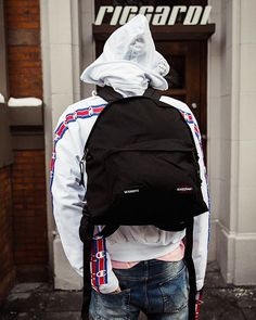 #NEWARRIVALS IN-STORE NOW AT #RICCARDIBOSTON @vetements_official #SS17 || #OOTD #RiccardiSTYLE #Vetements x @eastpak PAK'R' Backpack + Vetements x @champion Oversized Hoodie . #Riccardi #Boston #RiccardiBoston #Demna #DemnaGvasalia #Eastpak #Champion #collab #collaboration #menswear #mensfashion #accessories #mensaccessories #fashion #style #streetwear #streetstyle #streetfashion #hype #hypebeast #SpringSummer17 #newarrival #new #backpack
