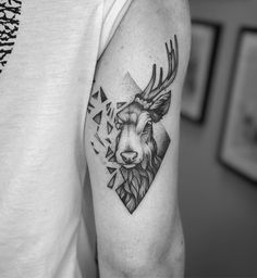 Creative dotwork stag