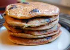 Vegan blueberry pancakes by Heavenly Vegan Baking