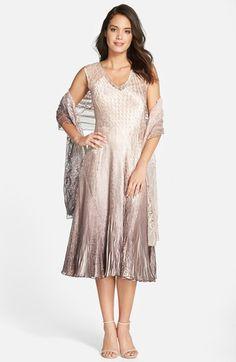 Komarov Sleeveless V-Neck Dress & Wrap (Regular & Petite) available at #Nordstrom