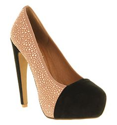Jeffrey Campbell VANDER HIGH HEEL NUDE SUEDE Shoes - Womens High Heels Shoes - Office Shoes