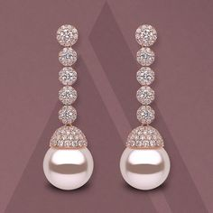 Sophisticated earrings featuring two lustrous 14-15mm #southseapearls with…