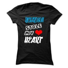 RICHARDSON Stole My Heart T Shirts, Hoodies, Sweatshirts. GET ONE ==> https://www.sunfrog.com/Outdoor/RICHARDSON-Stole-My-Heart--999-Cool-Name-Shirt-.html?41382