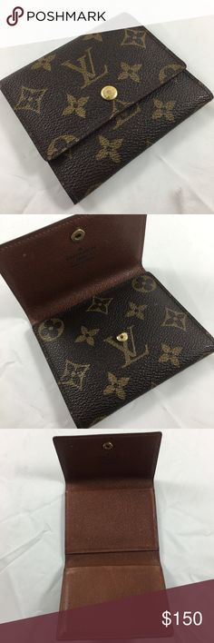 Authentic Vintage Louis Vuitton Card Holder/Wallet Authentic LV monogram card holder / trifold wallet in pristine vintage condition. Made in the USA, March 1996. Date code (SD0936)  and heat stamp are pictured. I've had this for over 20 years and am the first / only owner. No dust bag/box. Beautiful & useful piece. It's the perfect size for toting extra cards in a large purse or for using as a slim wallet when carrying a small clutch or handbag. Hard to find, especially in such nice…