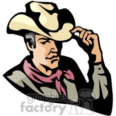 Cartoon of A Cowboy Wearing a Red Bandana Tipping his Cowboy Hat vector clip art image number Image formats available GIF, JPG, PNG and printable EPS, SVG. Western Clip Art, Hat Vector, Red Bandana, Clipart Images, Art Google, Royalty Free Images, Cowboys, Cowboy Hats, Snow White