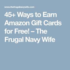 45 Ways to Earn Amazon Gift Cards!