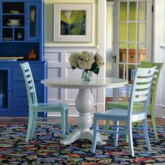Pedestal table from Maine Cottage