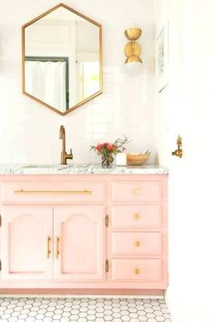 5 Simple and Ridiculous Tricks: Kitchen Remodel Bar Granite colonial kitchen remodel cupboards.Kitchen Remodel Backsplash Apartment Therapy kitchen re. Bathroom Closet, Gold Bathroom, Bathroom Colors, Bathroom Sets, Modern Bathroom, Modern Faucets, 1920s Bathroom, Colorful Bathroom, Paint Bathroom
