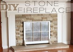 DIY Stone Firplace