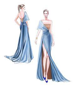 Dress Design Drawing, Dress Design Sketches, Fashion Design Sketchbook, Fashion Design Drawings, Dress Drawing, Fashion Design Illustrations, Art Illustrations, Fashion Figure Drawing, Fashion Drawing Dresses