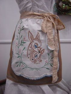 Mama and baby deer apron, love this!