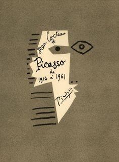 Picasso de Cover by Pablo Picasso Jean Cocteau Éditions du Rocher Monaco 1962 Pablo Picasso, Milly La Foret, Book Design, Design Art, Layout Design, Cover Design, Illustration Arte, Art Illustrations, Typography Design