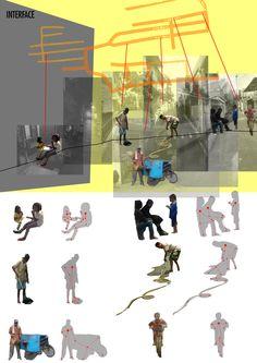 """""""Interconnected points between actors and the objects in location points"""". Diagram ini menjelaskan titik penting dari relasi antara dengan objek yang disentuhnya, sehingga terbentuk ukuran ruang yang termakan di dalam lokasi tertentu dalam site."""