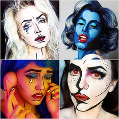 Pop-Art Makeup Ideas So Good, They Actually Look Like Cartoons