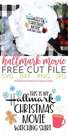 Hallmark Christmas Movie Watching SVG + 15 More FREE! If you love Hallmark Christmas Movies you will NEED this Hallmark Christmas Movie Watching Shirt SVG file! Also grab 15 more Awesome Free Christmas SVG's too! Merry Christmas, Christmas Vinyl, Christmas Shirts, Christmas Projects, Cricut Christmas Ideas, Christmas Riddles, Christmas Decorations, Christmas Clothing, Christmas Stickers