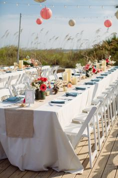 Palmetto Dunes Weddings Hilton Head Island- Dunes House- Beach Weddings Table Settings