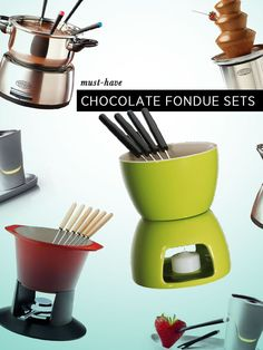 Do you FONDUE? At Eatwell we have to admit that some of the most wonderful evenings we spent with friends were over a fondue pot. And if you are a chocolate lover, you simply cannot miss an op. Chocolate Fondue Set, Chocolate Lovers, Melting Chocolate, Fondue Party, Functional Kitchen, Cool Kitchen Gadgets, Kitchen Equipment, Kitchen Products, Small Appliances