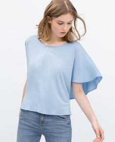 ZARA - COLLECTION AW15 - DOUBLE LAYER T-SHIRT
