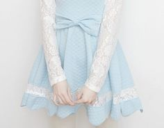 Image about cute in 💄Aesthetic💄 by jen on We Heart It Pastel Blue, Pastel Goth, Pink Blue, Baby Blue, Kawaii Fashion, Cute Fashion, Feminine Fashion, Aesthetic Fashion, Harajuku