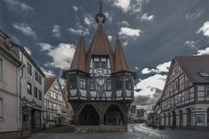 *** unwirklich..... *** von Mc Toni (Toni Großmann)  Rathaus von Michelstadt im Odenwald.