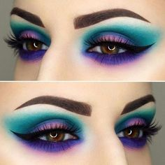Eye Makeup Ideas for 2018 50 + Augen Make-up Ideen für 2018 Makeup Goals, Love Makeup, Makeup Inspo, Makeup Inspiration, Makeup Ideas, Makeup Kit, Crazy Makeup, Awesome Makeup, Gorgeous Makeup