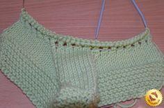 Вязание тапочек спицами 10