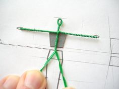 Here is a full, step-by-step account of making a simple twisted wire armature suitable for 1:25 scale figures.  It also  includes link to scaled templates.