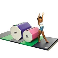 Octagon gymnastics mats are available in many sizes and colors. Custom design your own gymnastic tumbling octagon mat and use for school and pro cheer training. Types Of Gymnastics, Gymnastics Equipment For Home, Gymnastics Gear, Gymnastics Girls, Gymnastics Leotards, Crossfit Garage Gym, Ballerina, Back Handspring, Cheer Practice