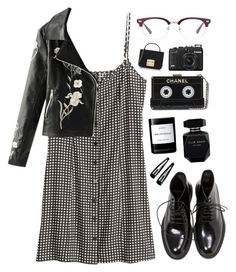 """Chanel"" by mode-222 ❤ liked on Polyvore featuring H&M, Yves Saint Laurent, Elie Saab, Byredo, Clips and Furla"