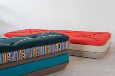 Katrin Greiling , designer allemande a créé une série de canapés très originaux.