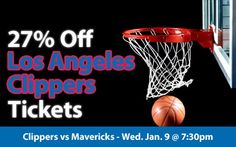 $49 (27% off) Los Angeles Clippers Tickets vs Dallas Mavericks Wed. Jan. 9 @ 7:30pm - Crowd Seats Cheap Sports Tickets