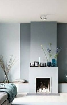 home interior decor Modern Fireplace, Living Room With Fireplace, Interior And Exterior, Interior Design, Interior Inspiration, Instagram Wall, House Design, Stoves, House Styles