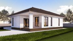 case tineresti cu aer modern Young couple modern homes 5 Yamaha Xt 660, Simple Bungalow House Designs, House Plans South Africa, House Outside Design, Design Case, Home Fashion, Shed, Cottage, Outdoor Structures