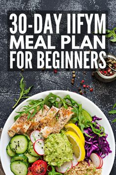 30-Day IIFYM Meal Plan for Beginners | Whether you've been consuming 2000, 1800, or 1500 calories per day, flexible dieting teaches you to ditch calorie counting in favor of counting macros - the protein, carbs, and fats in your meals. Perfect for women who want to lose weight without restrictive diets and 21-day cleanses, we've created a 30-day IIFYM kickstart diet with 30 delicious IIFYM recipes each for breakfast, lunch, dinner, and snacks! #macrofriend #BestDietPlanForWeightLoss Ketogenic Diet Meal Plan, Ketogenic Diet For Beginners, Iifym Diet, Beginners Diet, Keto Meal, Vegetarian Meal, Diet Menu, Ketosis Diet, 2000 Calorie Meal Plan