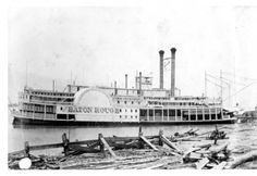 ca.1885 - SS City of Baton Rouge moored on Mississippi River. :: 'Andrew D. Lytle's Baton Rouge' Photograph Collection