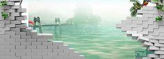 De parede simples de Fundo 3D, Stereo, A Parede De Fundo Simples, Verde, Imagem de fundo