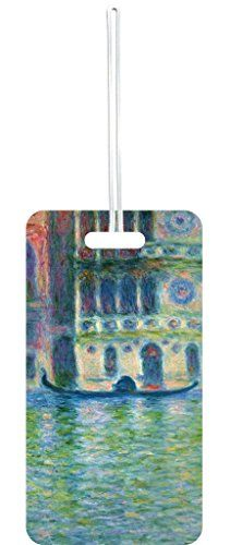 Luggage Tags Collections   Artist Claude Monets Palazzo Dario Painting Print Design Lea Elliot Set of 5 Luggage Tags with Customizable Back -- Continue to the product at the image link. Note:It is Affiliate Link to Amazon.